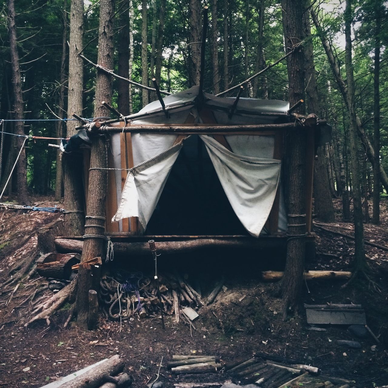 Hipster Apartments Photo Interior Tent Camping