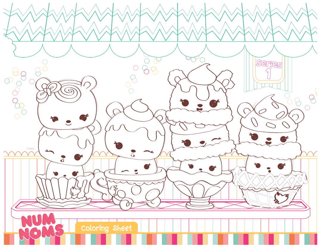 Coloring Page All Num Noms Things Pinterest Birthdays