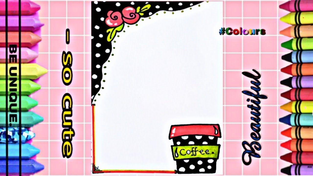 Drawing To Decorate Notebook Coffee تزيين دفاتر مدرسة من الداخل على Cute Notebook Coffee