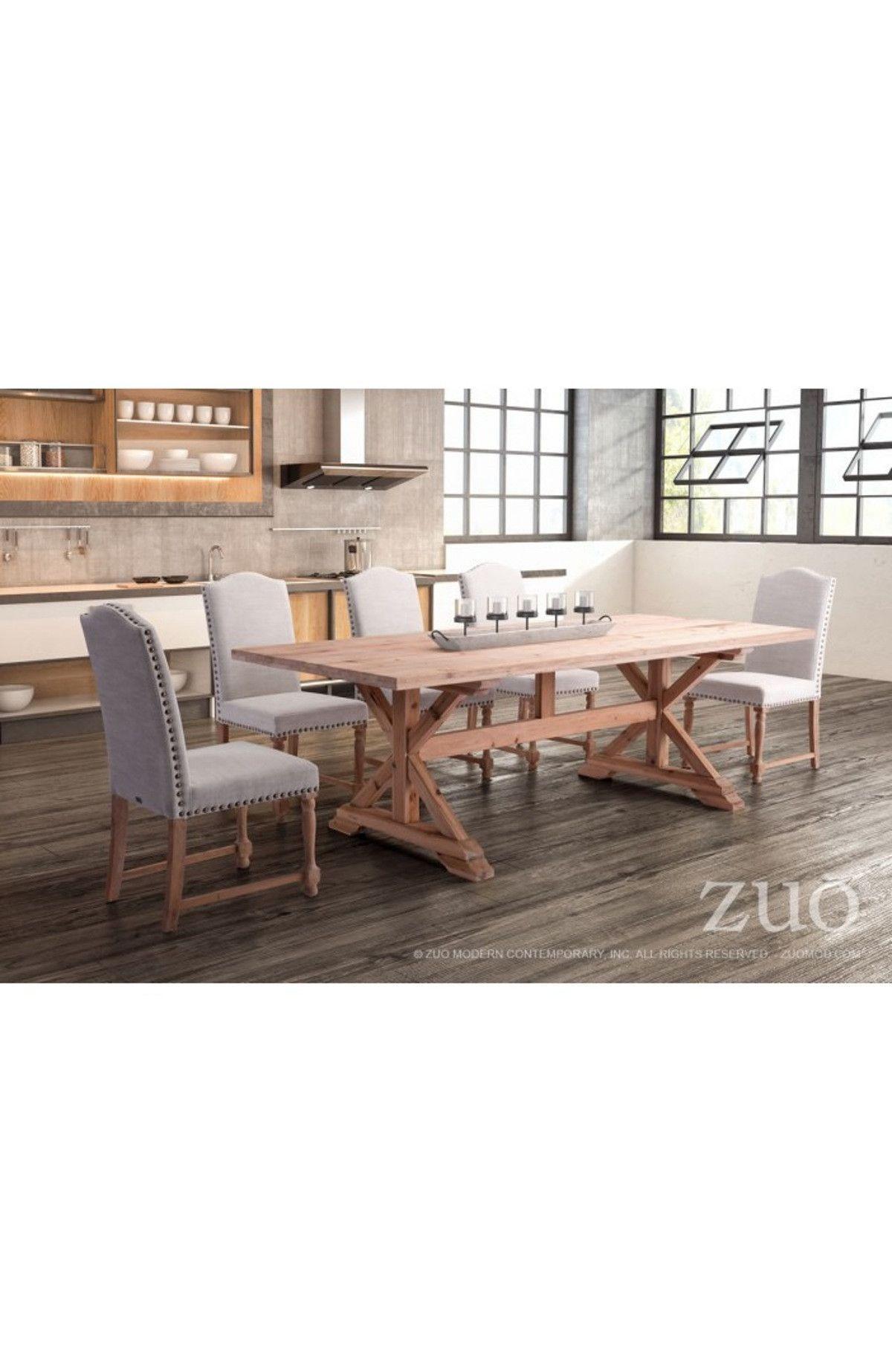 Zuo Modern Alliance Dining Table Natural Fir - 100440