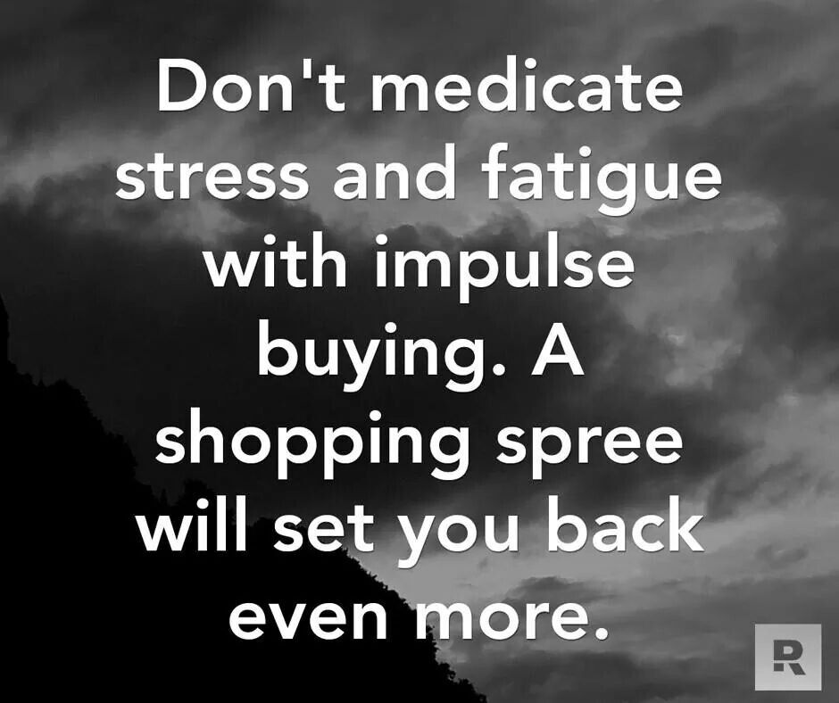 Shopping sprees - not always a good thing!