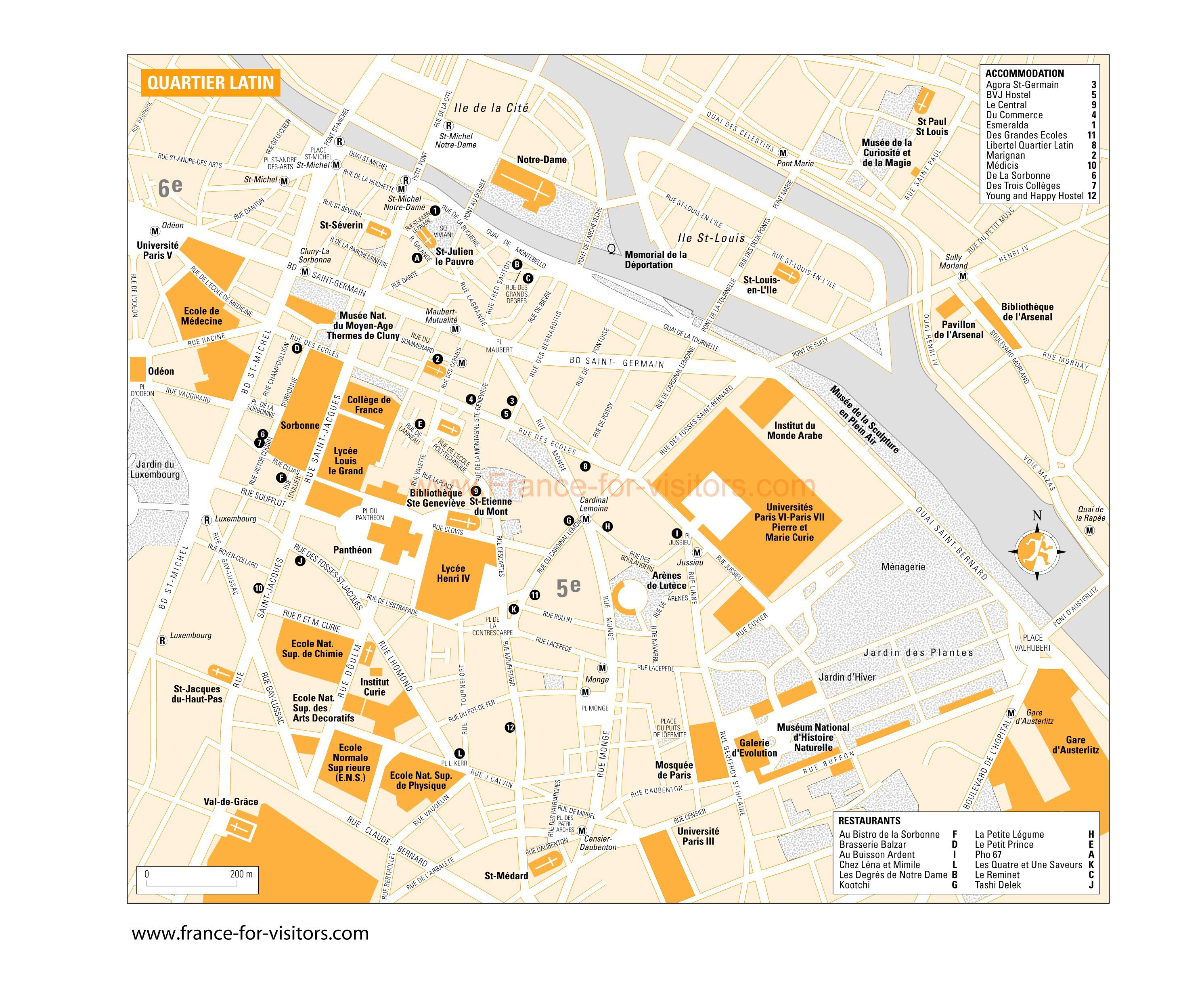 Quartier Latin Paris Le Club Des Incorrigibles Optimistes - Paris map quarters