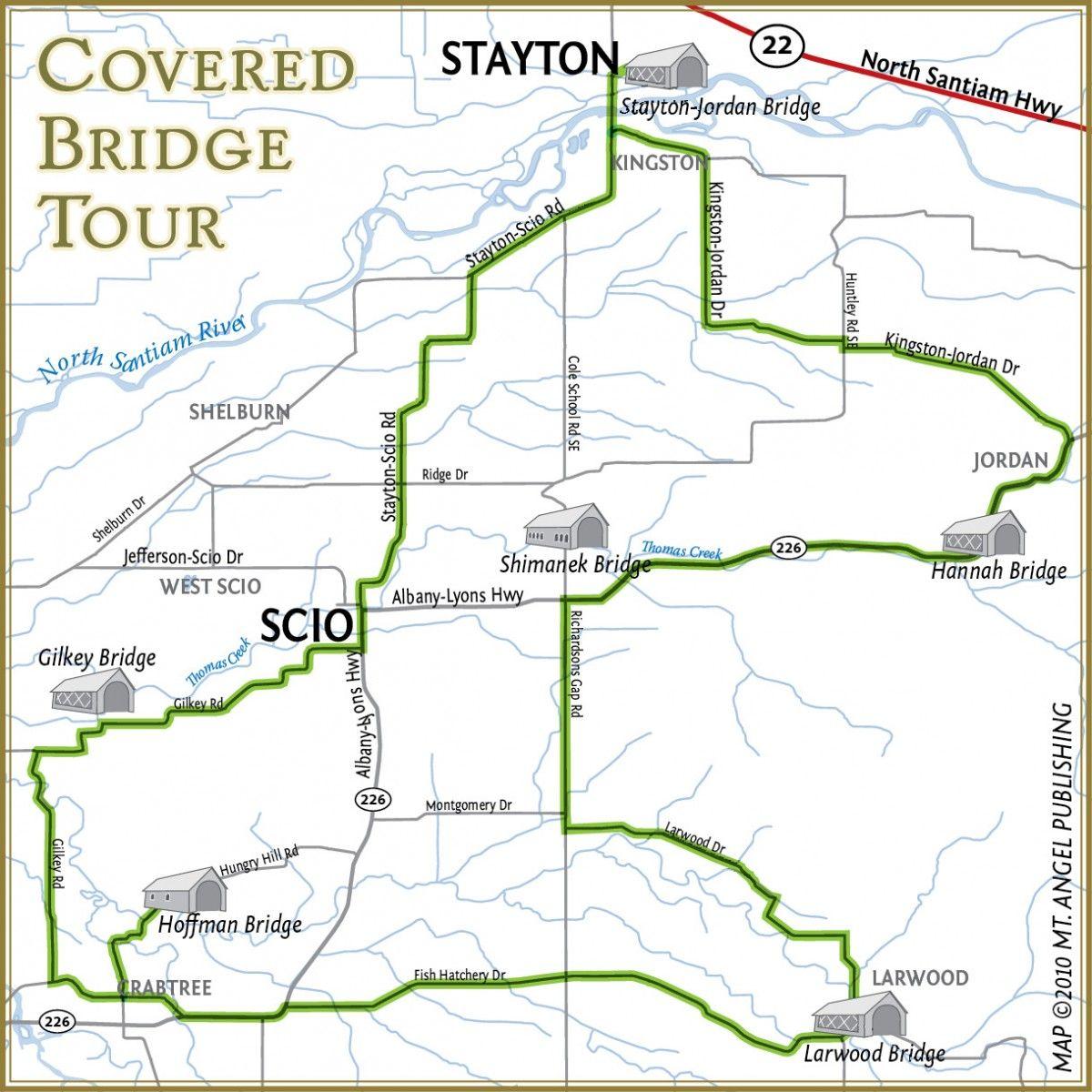 map of stayton oregon Covered Bridge Tour Covered Bridges Stayton Tours map of stayton oregon