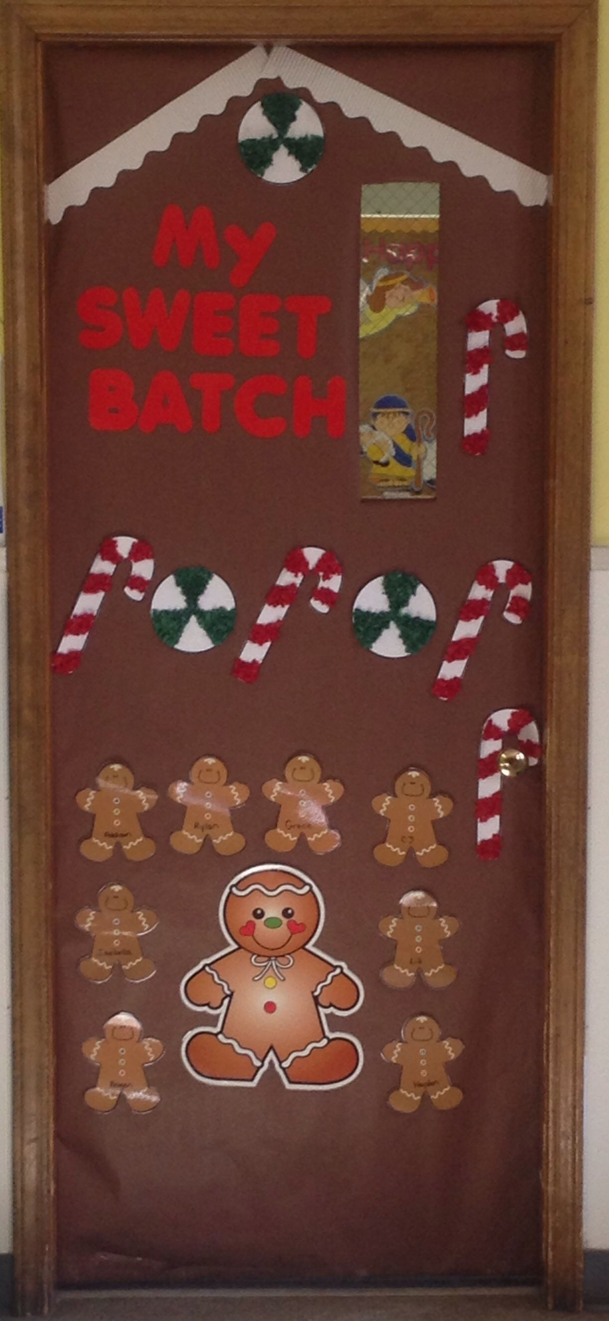 Classroom Decoration Ideas Winter ~ Gingerbread house door bulletin boards pinterest