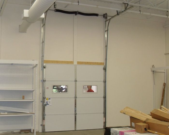 Commercial Garage Door Vertical Lift Up Wall Wow Now Thats A