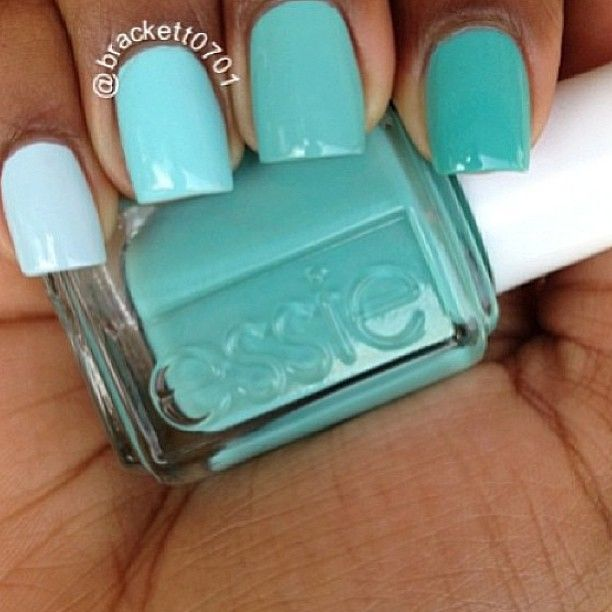 Pretty teal nails by Essie   Nails   Pinterest
