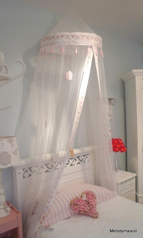 Rose over bed canopy net - Melody Maison® & Walmart Children Beds | ... products bed canopy new ikea kura bed ...