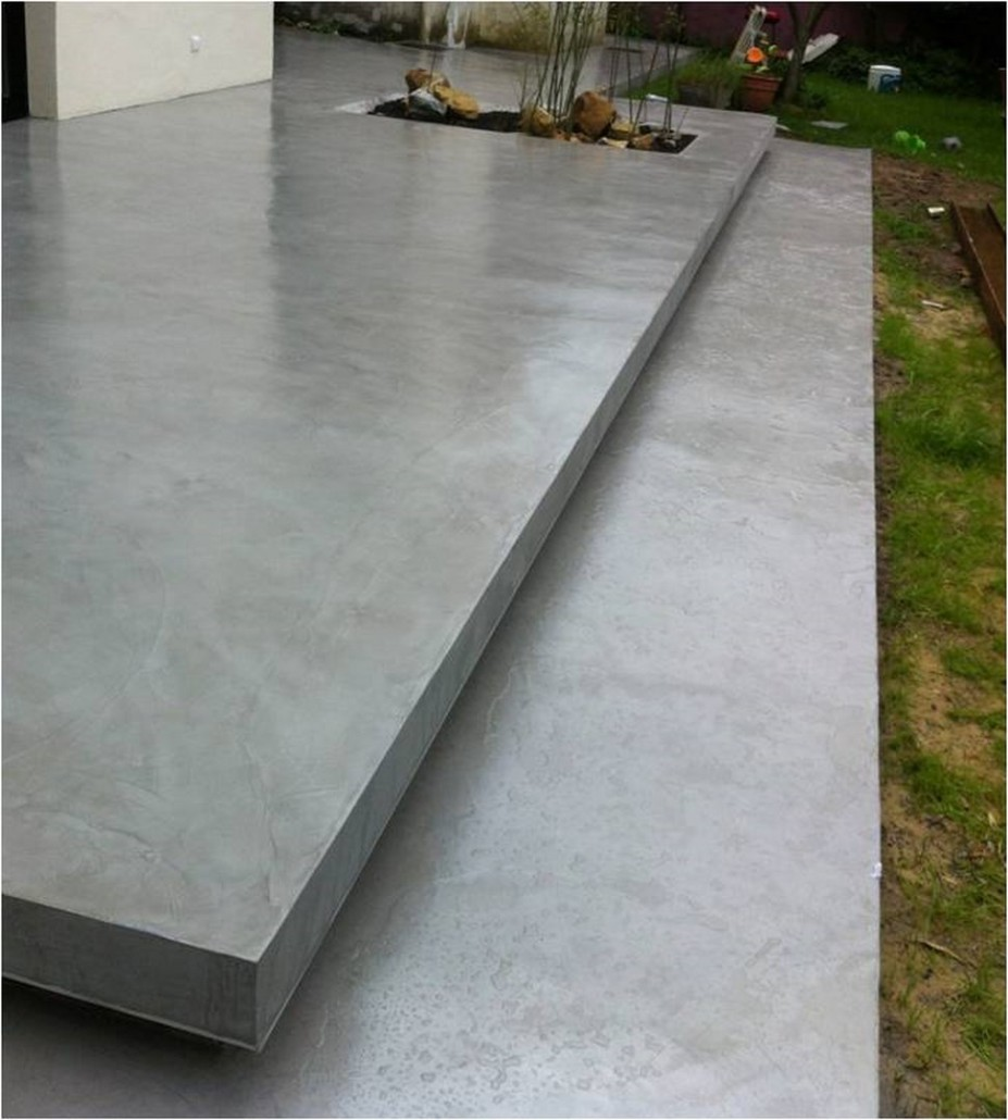 beton decoratif pour terrasse exterieure rev tement de sol ext rieur in 2020 concrete backyard
