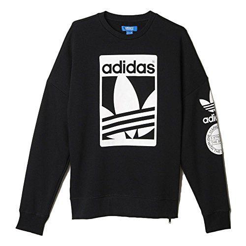 Adidas Men's Originals Street Graphic Crew Sweatshirt Black