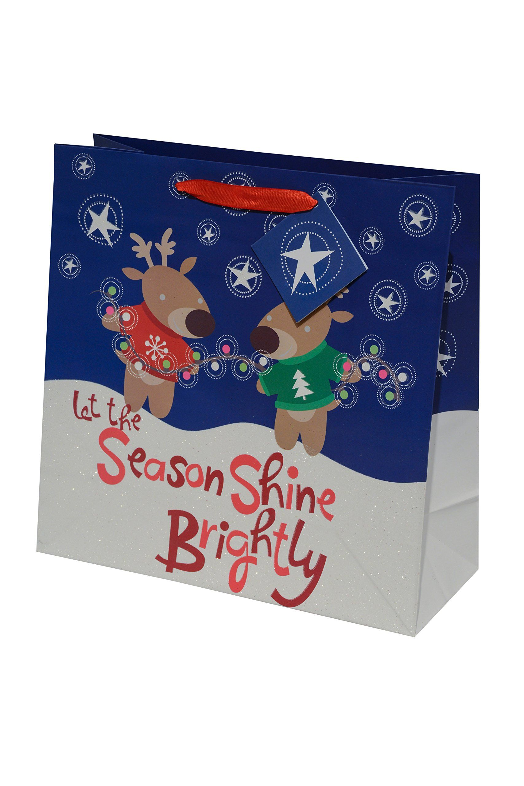 Christmas Gift Bags Bulk.12 Christmas Gift Bags Bulk Large Square Glitter Bags For
