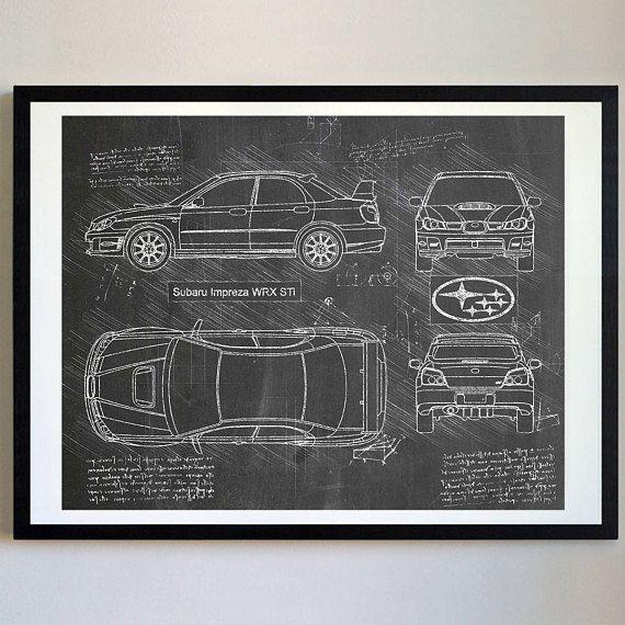 Subaru Impreza Wrx Sti 2006 Arte De Subaru Blueprint Subaru Wrx Blueprints