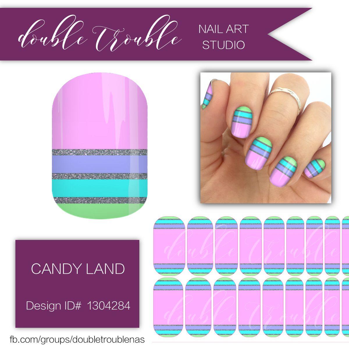 Candy Land Bright Pink Stripe Nail Art Jamberry Nail Wraps Nas