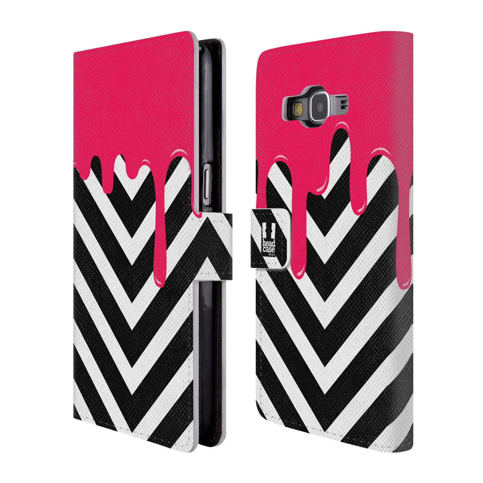 Flipové pouzdro na mobil Samsung Galaxy Grand Prime HEAD CASE Meltdown Chevron