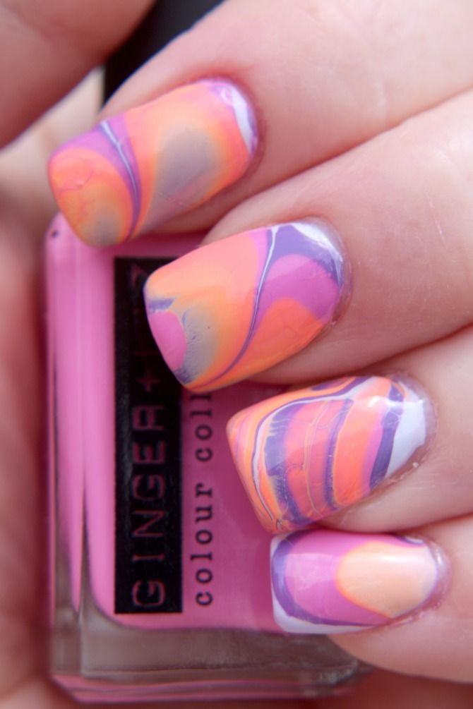 Mani of the Day: Tie Dye
