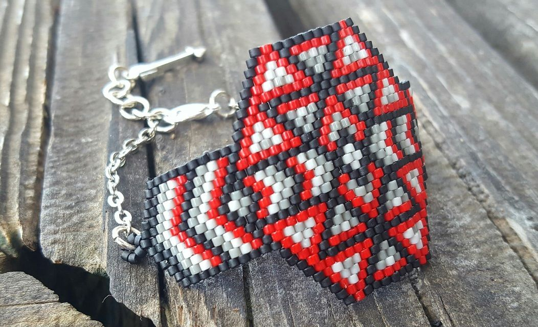 """Selling one of a kind, """"Unique"""" beaded items. Brickstitch Bracelet weaved with Delias"""