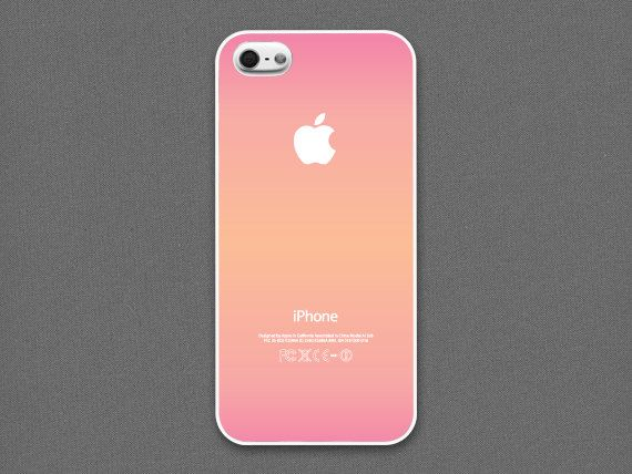 iPhone 4 / 4s Case -  The aroma of love // Pink & Peach gradation, iPhone4 Case, Cases for iPhone4, iPhone4s Case, Cases for iPhone4s