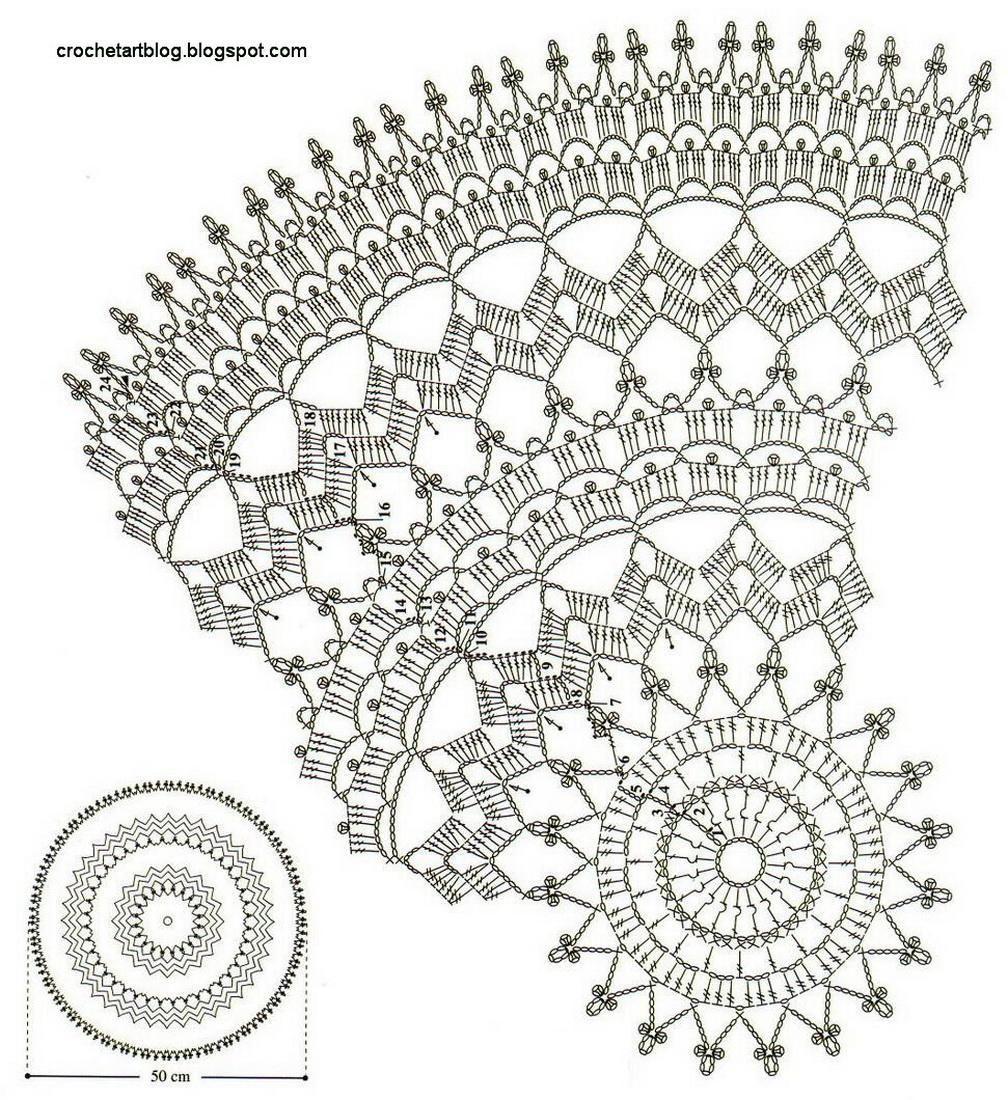 Crochet Art: Crochet Doily - Free Crochet Pattern   Салфетки ...