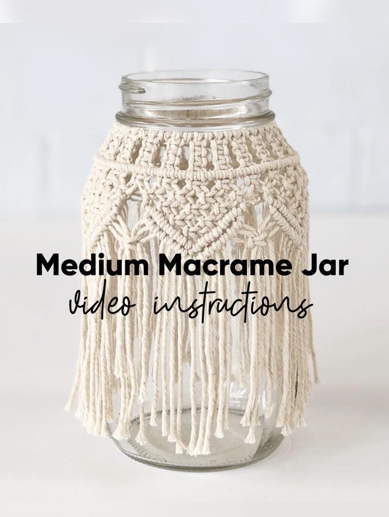 Medium Macrame Jar Video Tutorial