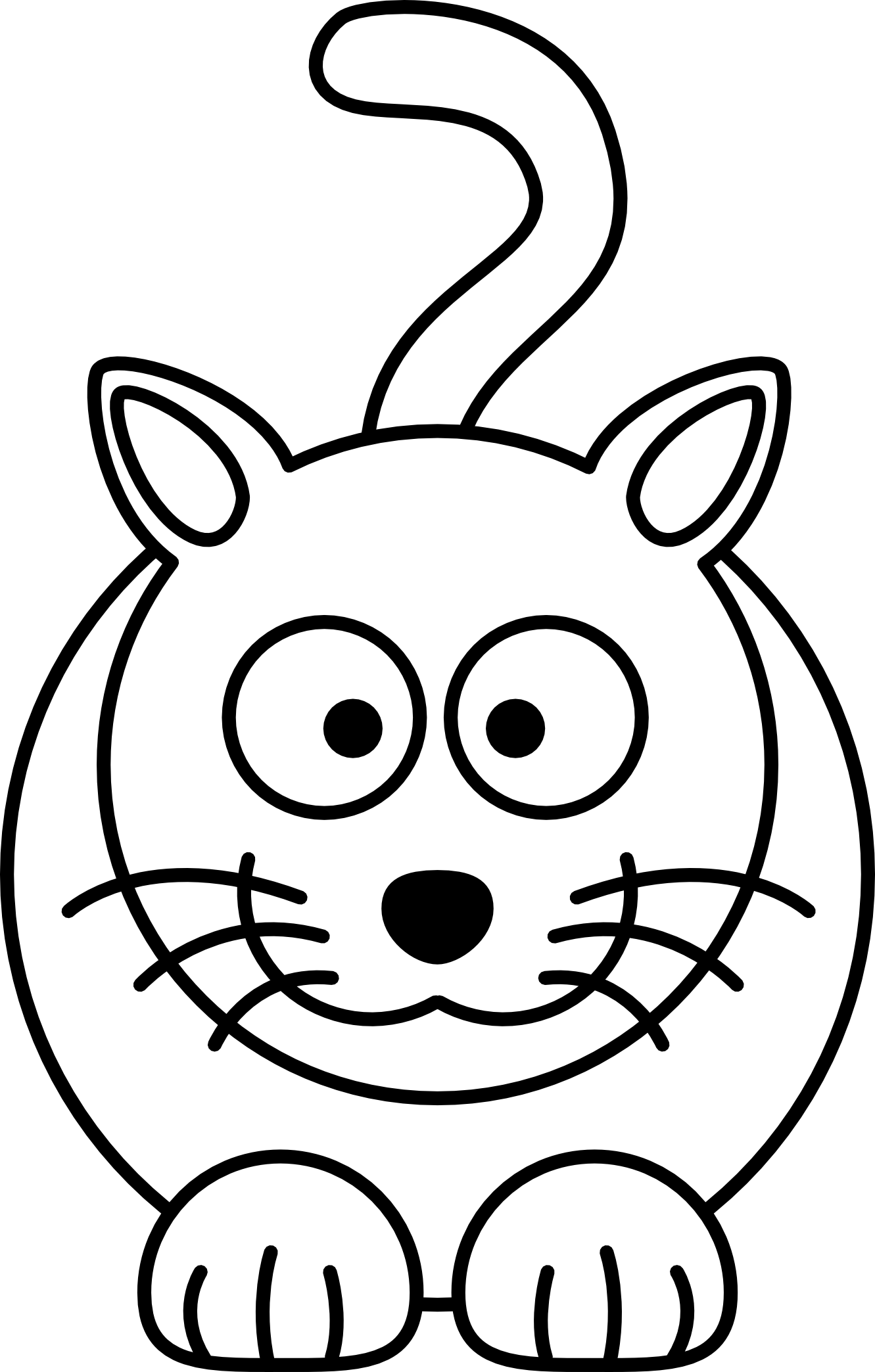 Line Art For Coloring : Free simple line drawings art coloring book
