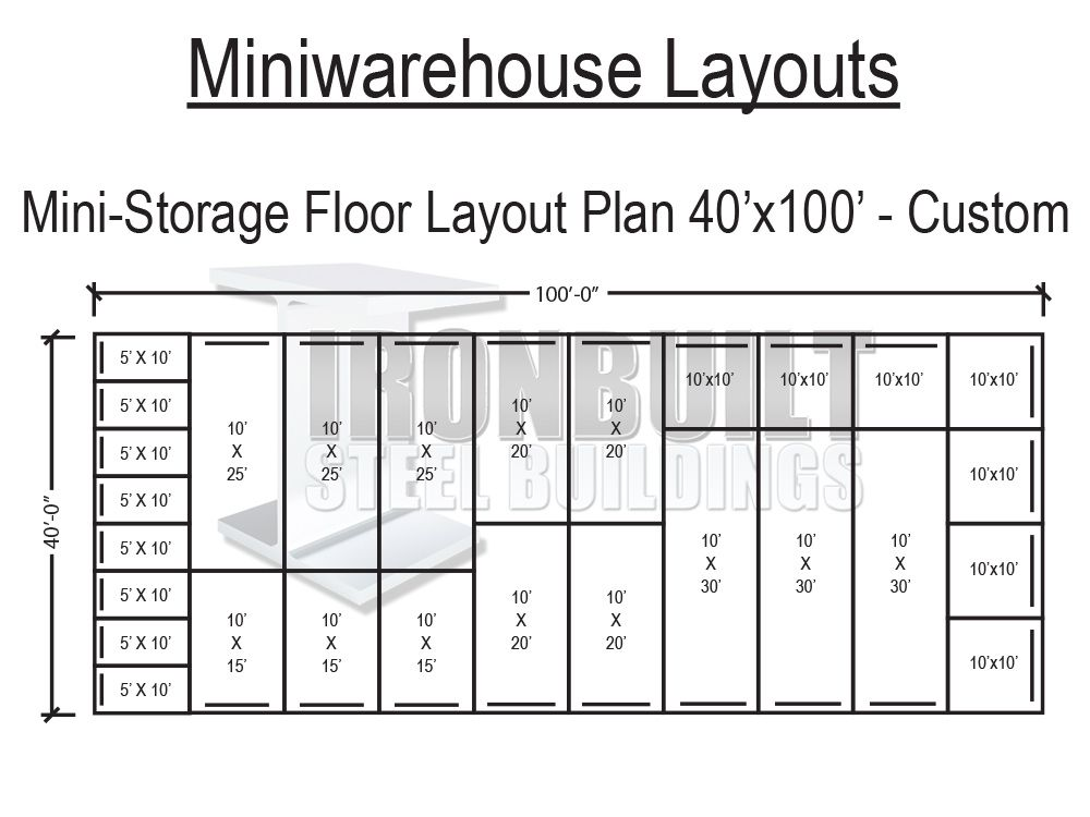 Mini Storage Buildings Self Storage Buildings Free Floor Plans And Online Prices Self Storage Units Self Storage Mini Storage