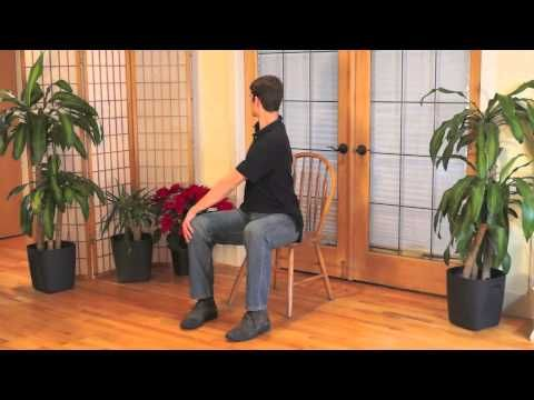 mindful chair yoga to relieve lower back tension  youtube