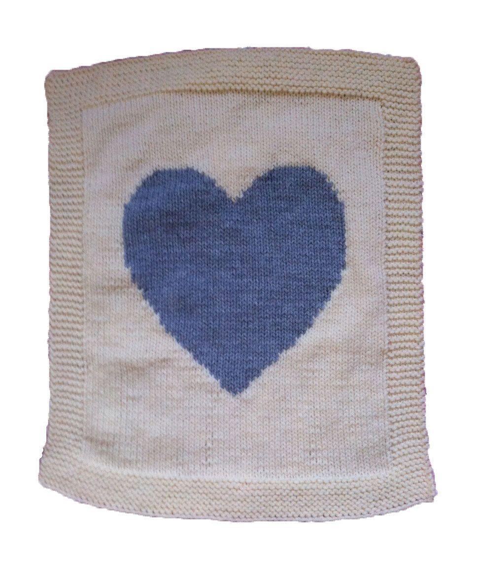 Easy Heart Baby Blanket! /pram cover, chunky knitting pattern ...