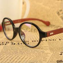 NEW RETRO round Rivets Wood eyeglasses frames JAPANESE HANDMADE big Wooden Optical frames Wooden Computer spectacles AR COATED(China (Mainland))