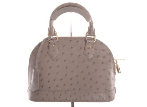 503213c5f1aa Louis Vuitton Gray Ostrich Alma BB