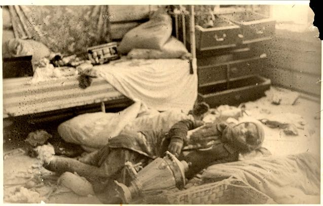 Riga Latvia A Corpse Of A Jewish Woman After A Pogrom