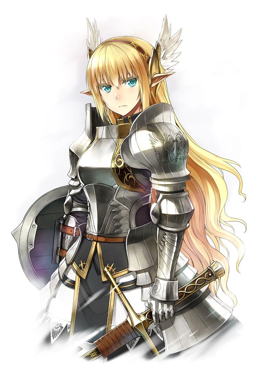 elf, paladin, knight, warrior, plate armor, shield, sword