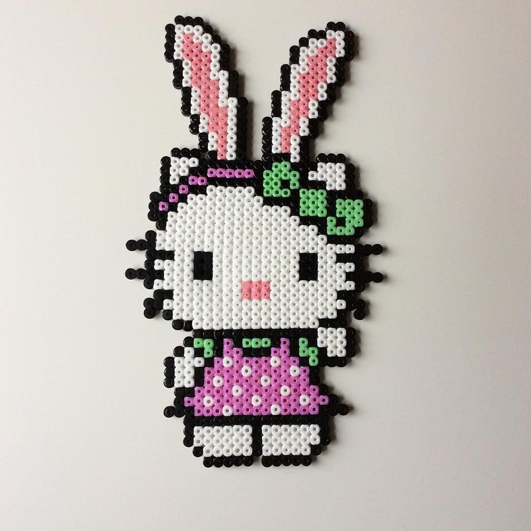 Bunny Hello Kitty hama beads by _the_creative_girls_