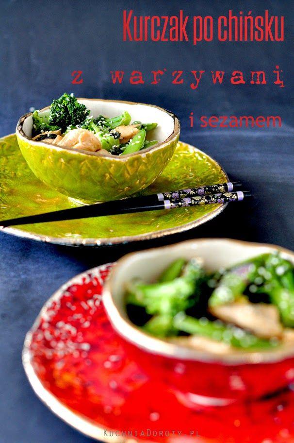 Kuchnia Doroty Kurczak Po Chinsku Z Warzywami I Sezamem Kuchnia