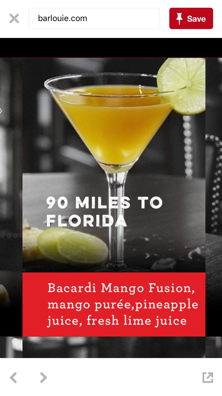 90 miles to Florida recipe from bar Louie | Alcoholic drinks ...