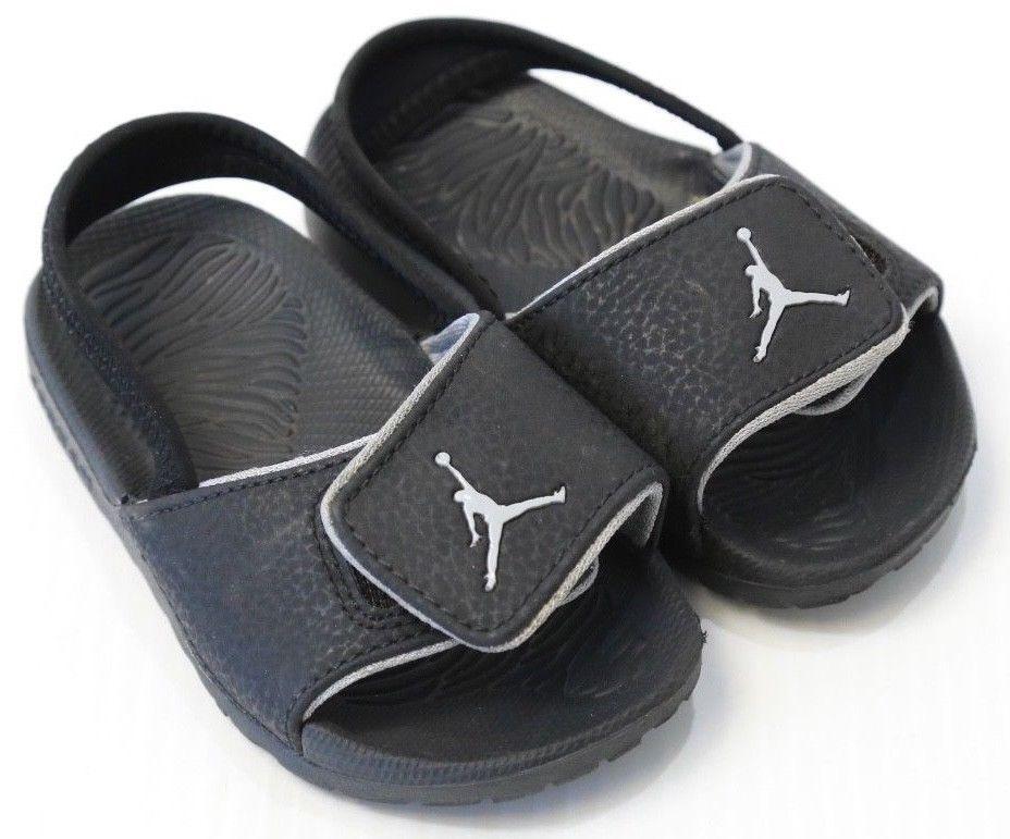 f34d6c61b0ab Kid s Nike Air Jordan Retro Hydro Sandal Strap Baby Black Size 8 C  Jordan   Sandals