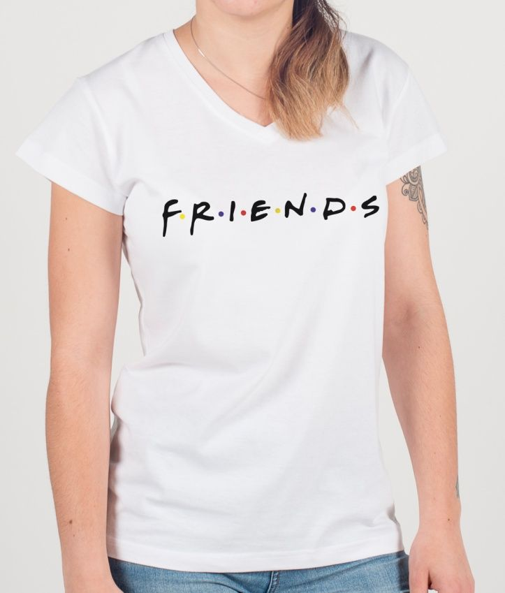 f63a1d3fc2 Nostalgic of the serie friends   Tshirt  Logo  Friends  Serie  Beautiful   Clothing
