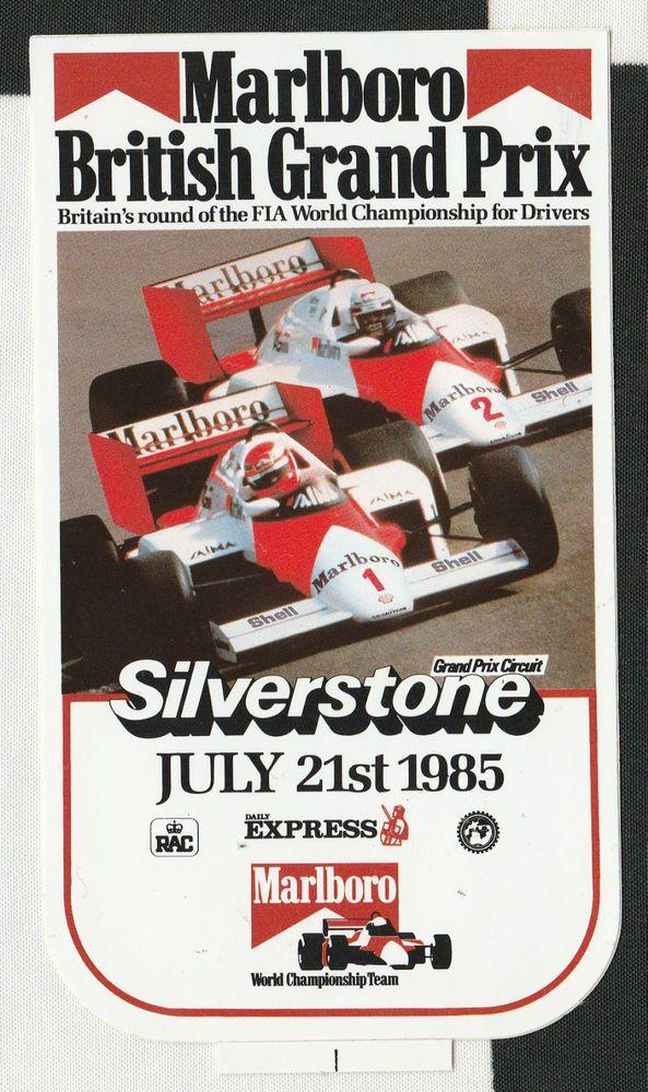 Rennplakat Monaco Aufkleber Sticker Formel 1 1975