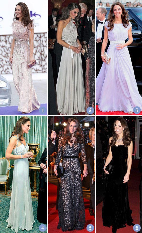 Os vestidos longos de Kate Middleton - Constance Zahn