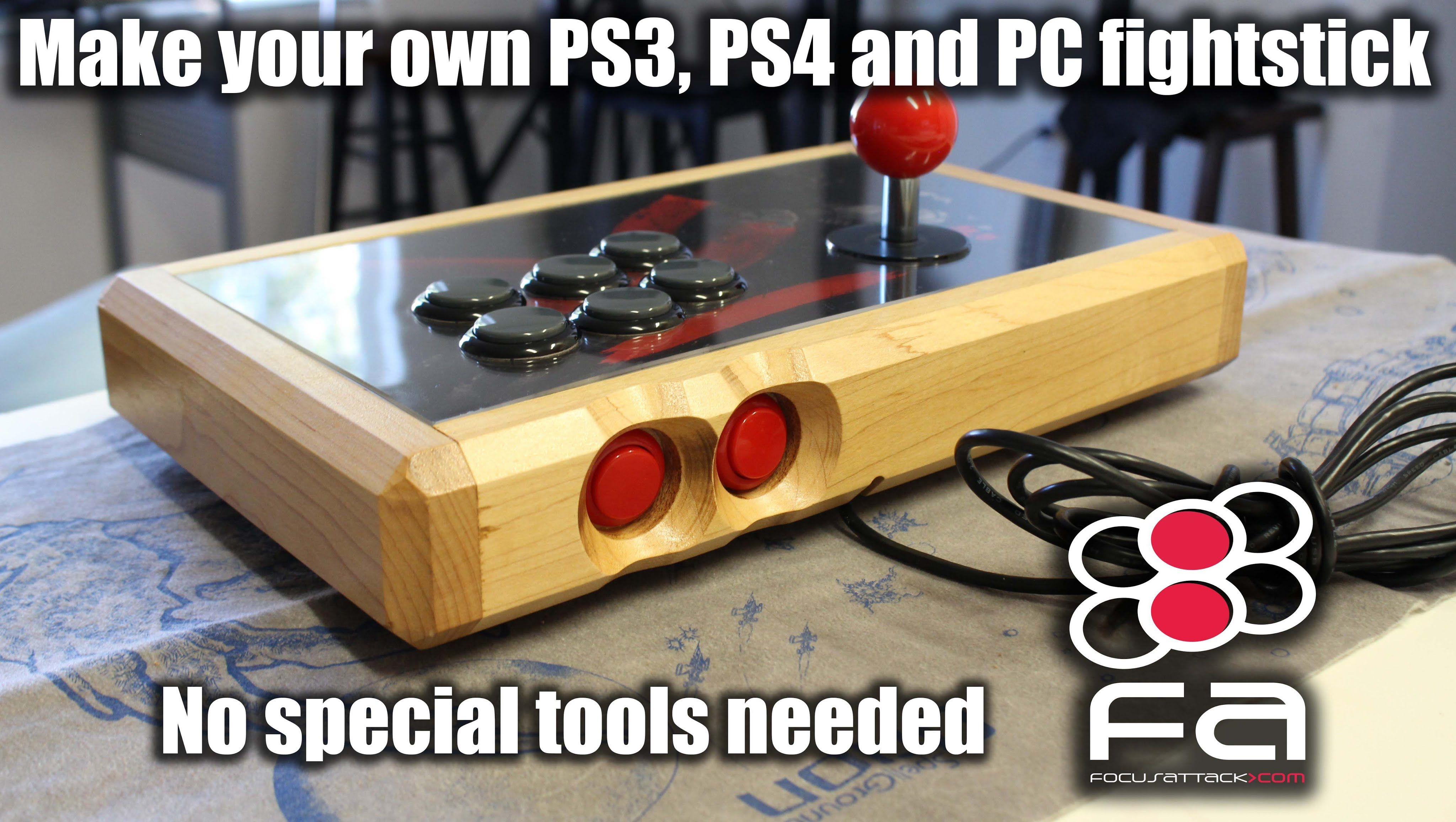 Make Your Own Ps4 Fighstick The Easy Way Arcade Stick Make It Yourself Arcade Console