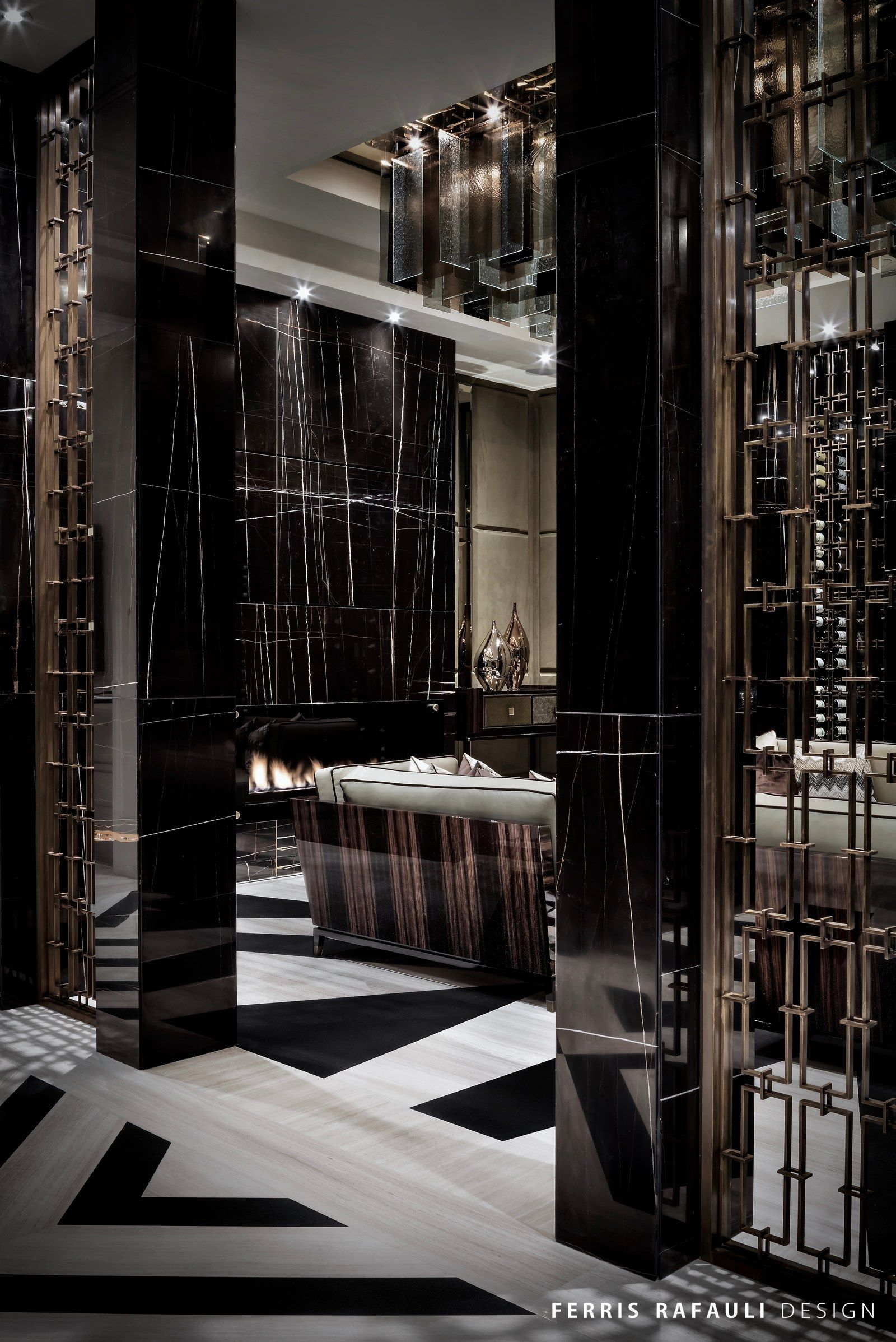 Luxury Showcase For Living Room Royal Art Deco: Architecture By Ferris Rafauli