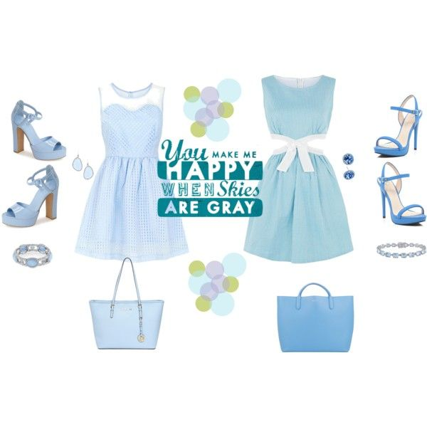 Twining with blue skater dresses featuring Cutie, Mandi, Topshop, River Island, Smythson, MICHAEL Michael Kors, 1928, Amour and Nina.