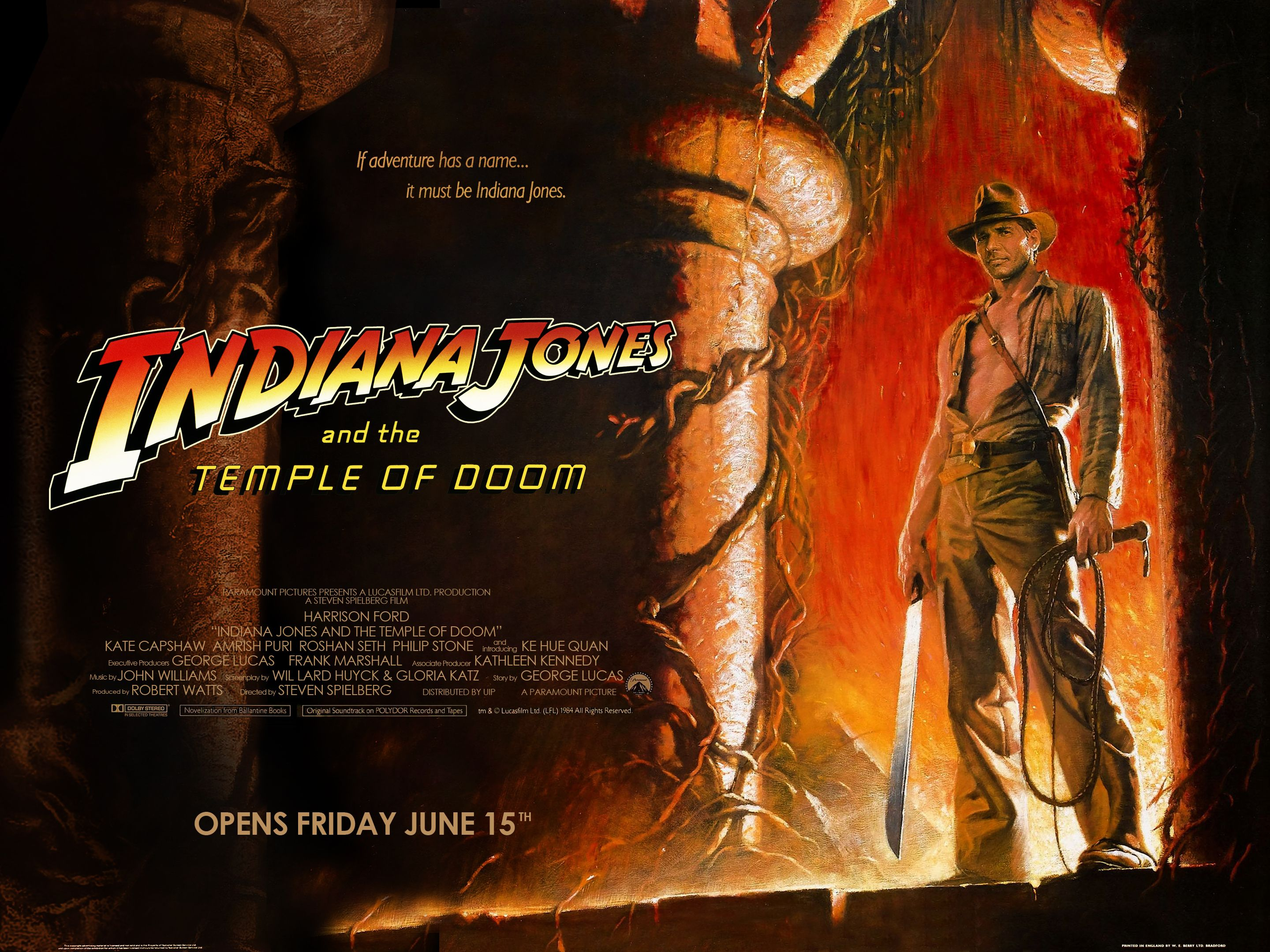 Image result for Indiana Jones teaser poster temple of doom