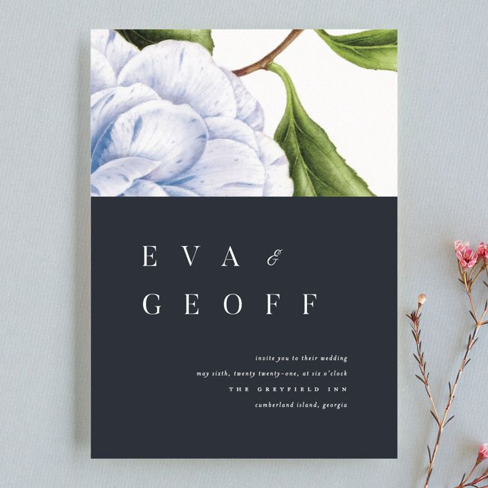 Botanic wedding invitation design by Minted artist