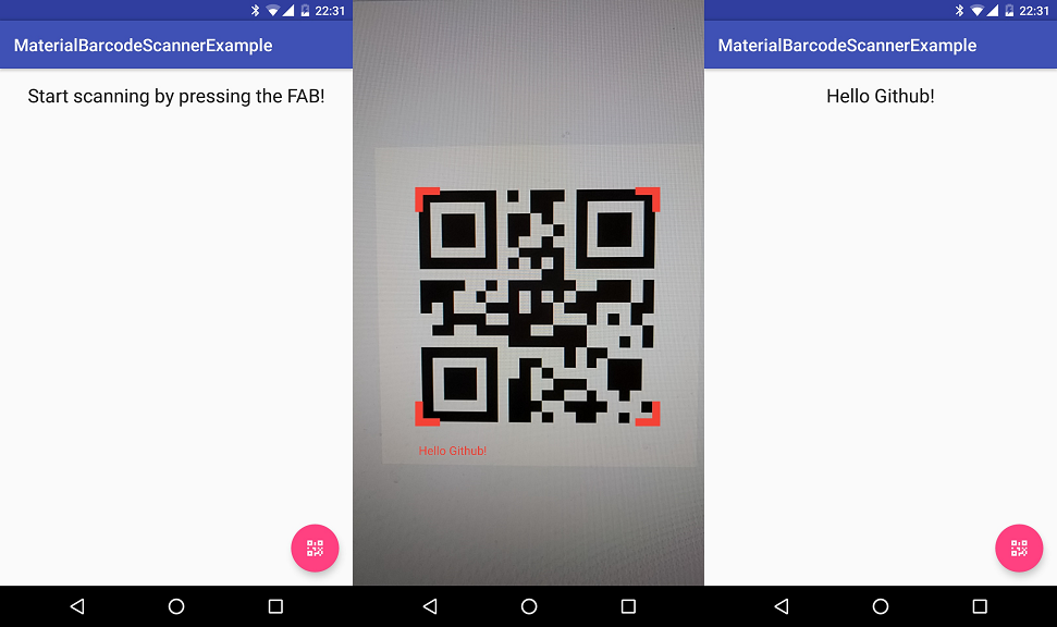 MaterialBarcodeScanner Barcode scanner, Android library