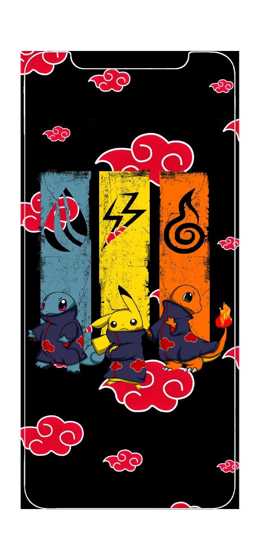 Found This Akatsuki Pokemon Picture Then Threw On The Back Round