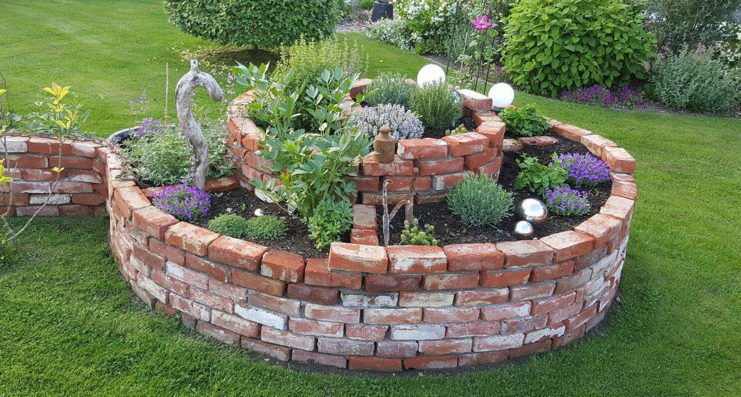 kräuterspirale #garten, #steine, #spirale, stand: ende mai 2016