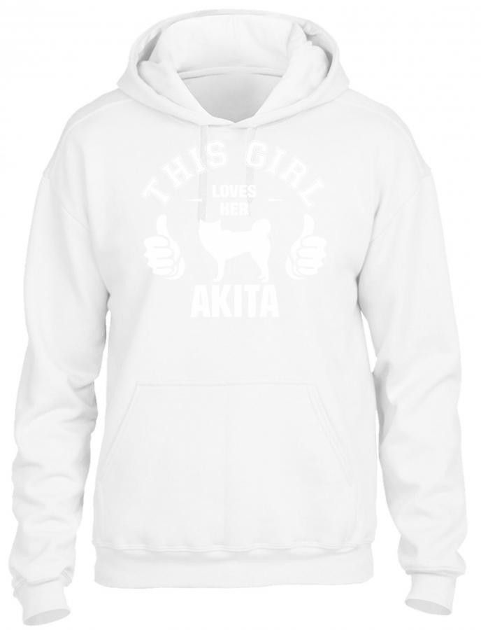 this girl loves her akita t shirt design 1 HOODIE