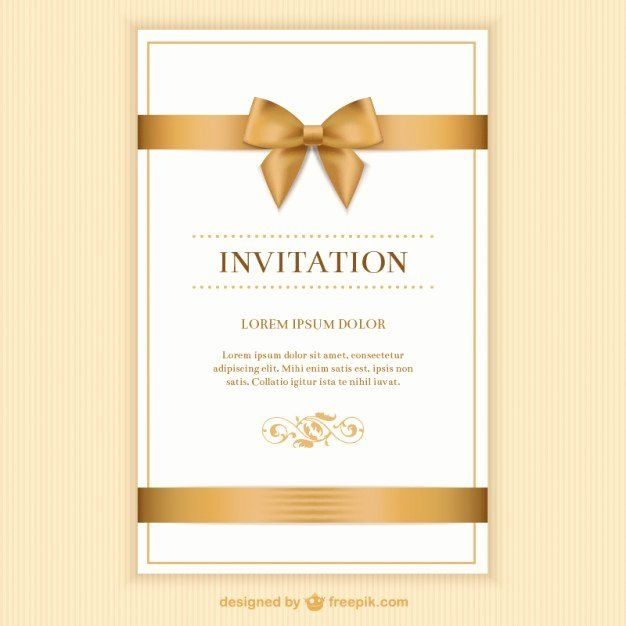 Free Invitation Card Template Luxury Invitation Vectors S And Psd Files Free Invitation Cards Invitation Card Design Ticket Wedding Invitations