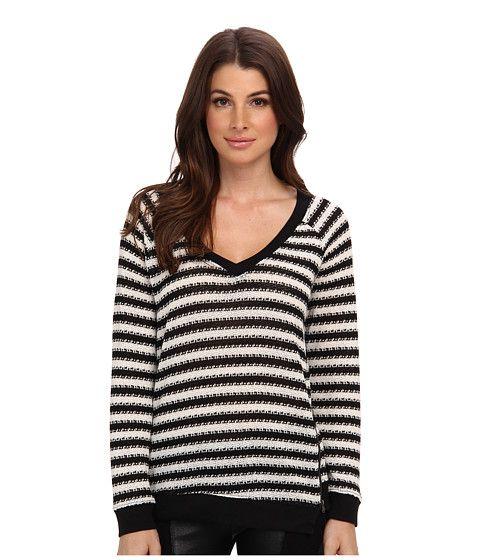 Sanctuary Fawn Sweater Black/White - 6pm.com