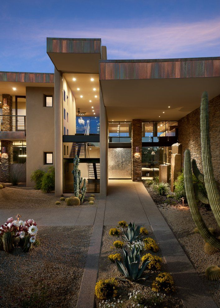 Spectacular Contemporary Dream Home Immersed In The Arizona Desert Contemporary House Exterior Design Architecture