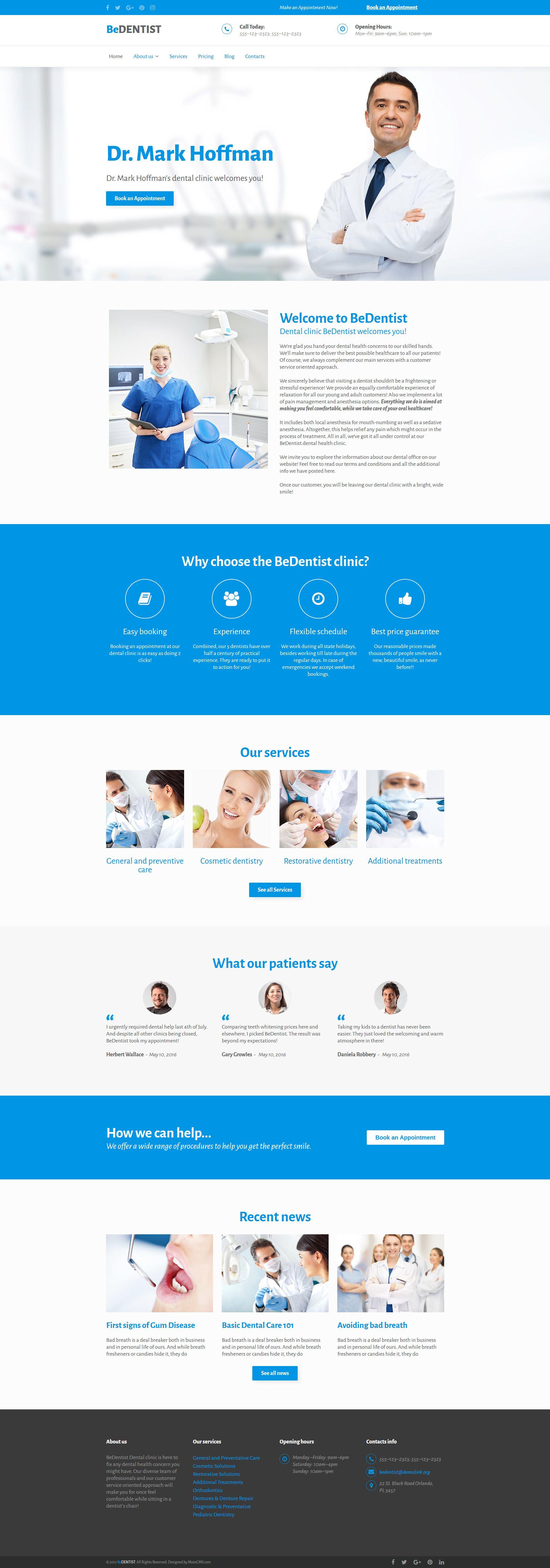 dental website template